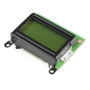 Picture of Basic 8x2 Character LCD - Black on Green 5V