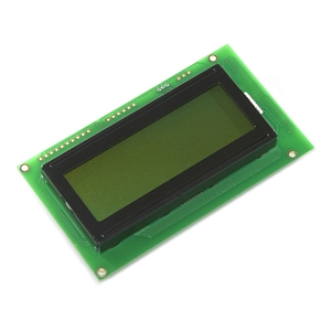 Picture of Serial Enabled 20x4 LCD - Black on Green 5V