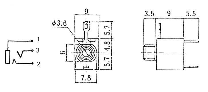 hobbytronics  audio socket - panel mount - 3 5mm