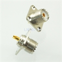 Picture of Connector SO239 UHF female jack 4-hole 25mm flange solder panel mount straight