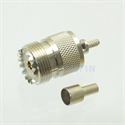 Picture of Connector SO239 UHF female jack window crimp RG174 RG316 LMR100 cable straight
