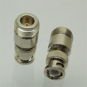 Picture of Adapter N female jack to BNC plug male RF connector straight