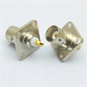 Picture of Connector BNC female jack 4-hole 17.5mm flange solder panel mount straight