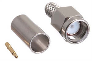 Picture of SMA Male Crimp Connector - RG58, RG141 & LMR-195