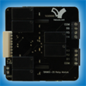 Picture of 6-Pin Relay Terminal Board - 35mm DIN/Bolt Mount