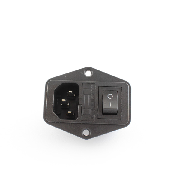 hobbytronics panel mount iec connector with switch and. Black Bedroom Furniture Sets. Home Design Ideas