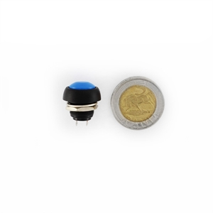 Picture of 12mm Momentary Waterproof Round Push (NO) Button