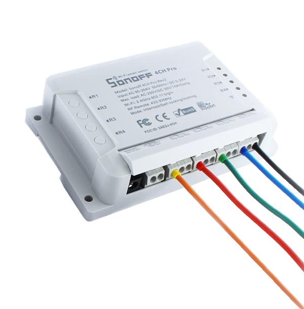 Hobbytronics  Sonoff 4 Channel Smart Switch