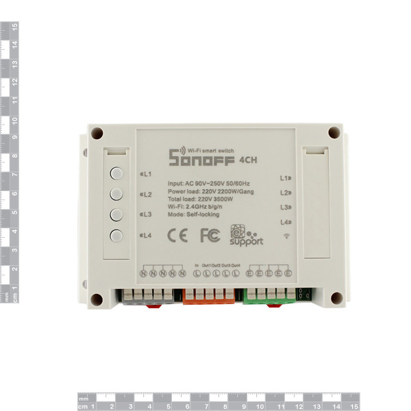 Hobbytronics  Sonoff 4 Channel Smart Switch